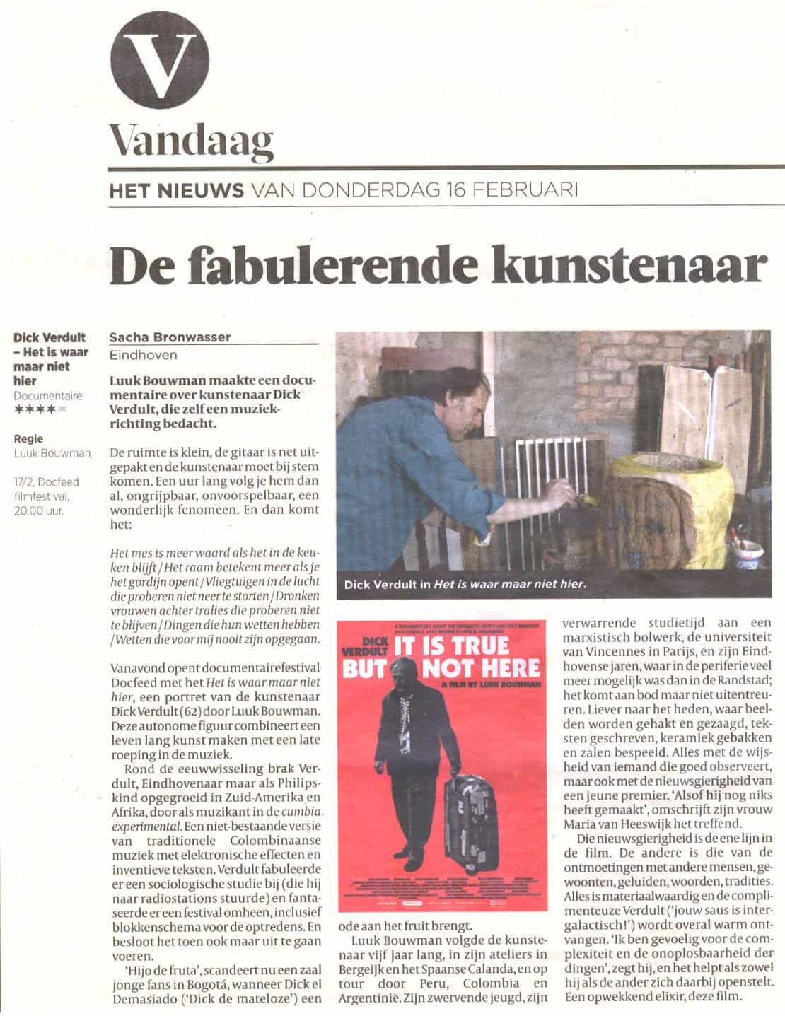 Volkskrant-4-sterren-documentaire-dick-verdult-