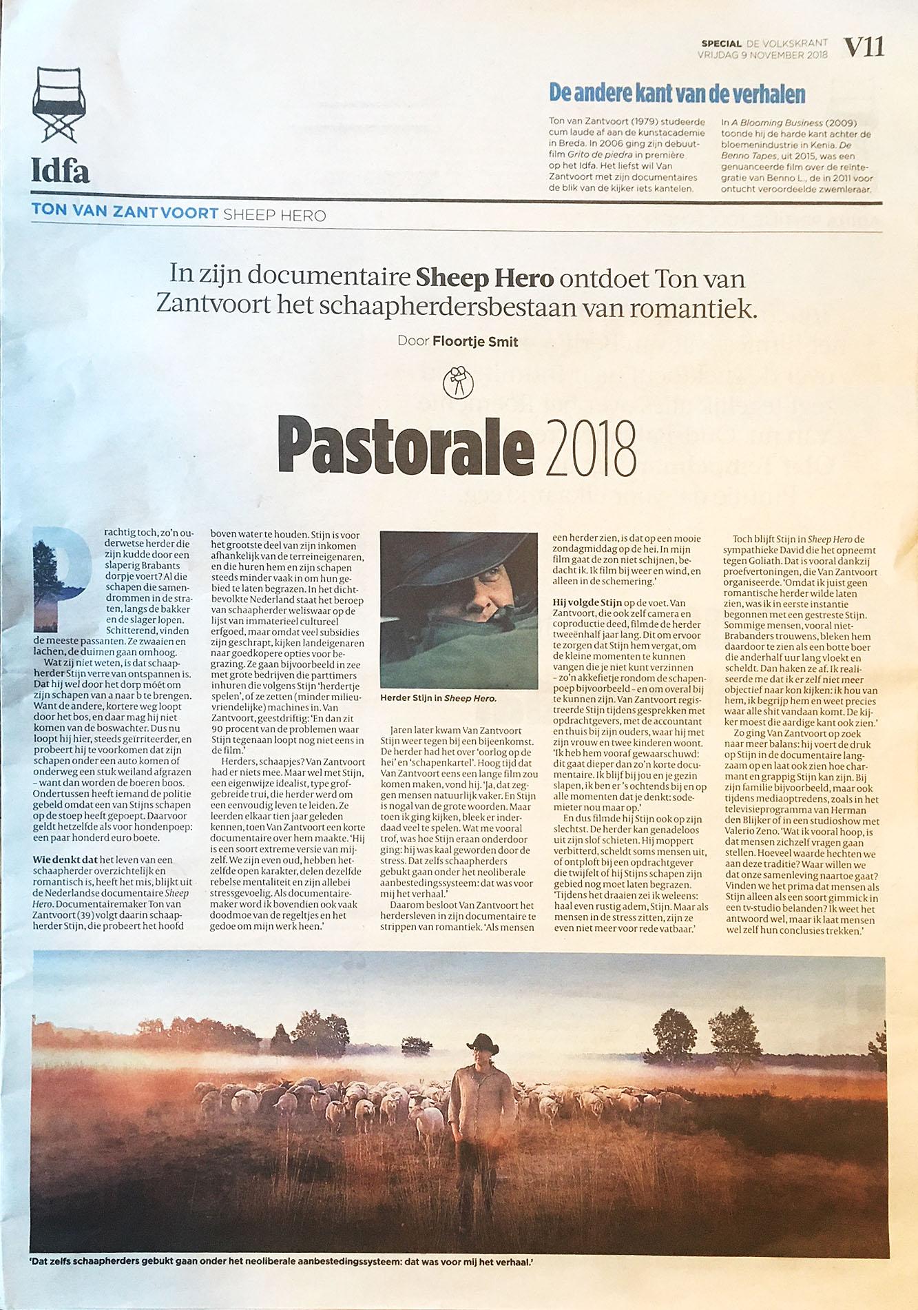 Ton van Zantvoort laat in Sheep Hero zien hoe het schaapsherderbestaan meer is dan een mooie zondagmiddag op de hei _ De Volkskrant