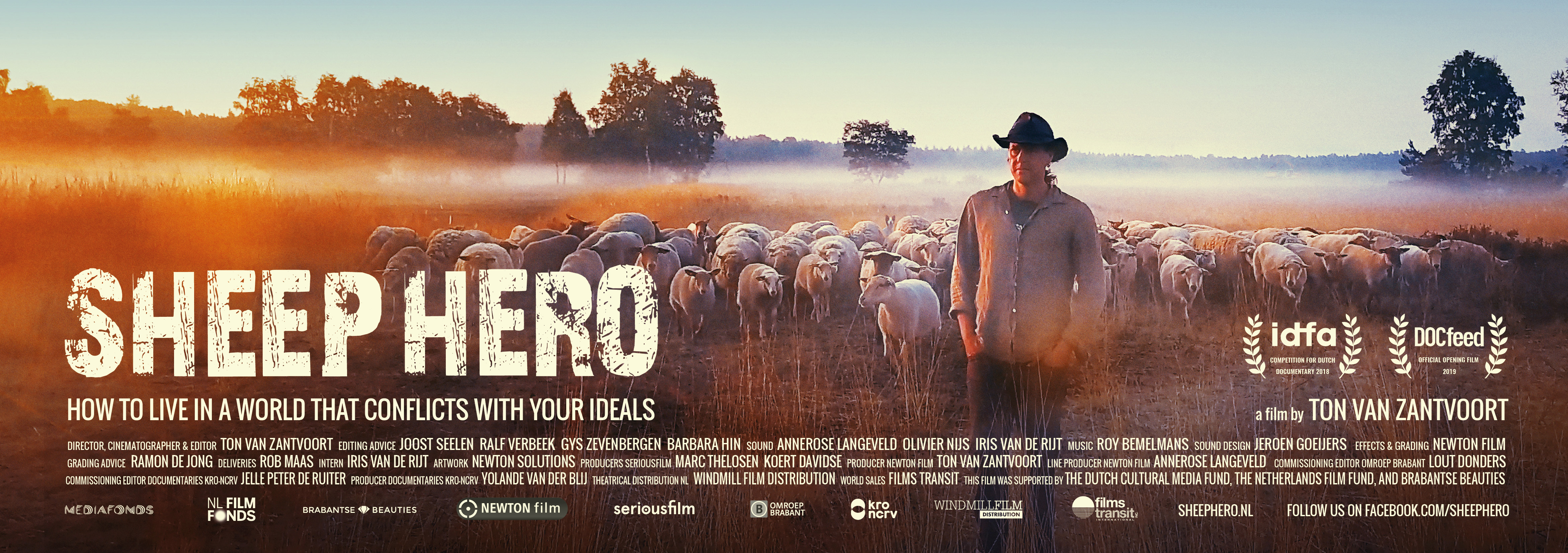SHEEP HERO documentary flyer A5 large