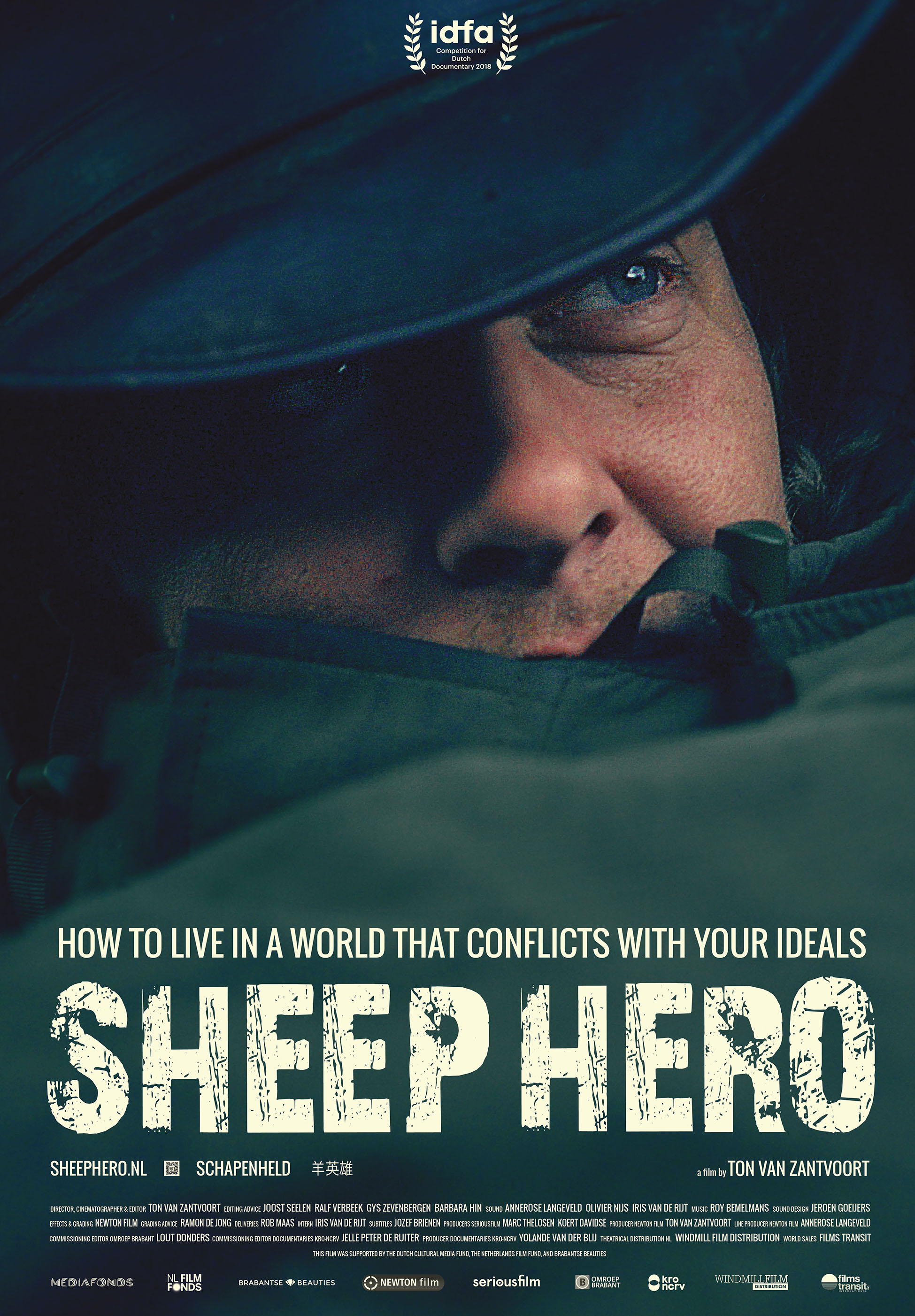 SHEEP HERO documentary poster close up