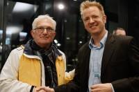 Bart Jan Krouwel Oprichter Triodos Bank met regisseur Ton van Zantvoort