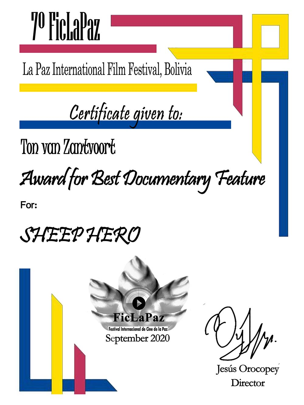 FICLAPAZ-7th-Award-for-Best-Documentary-Feature